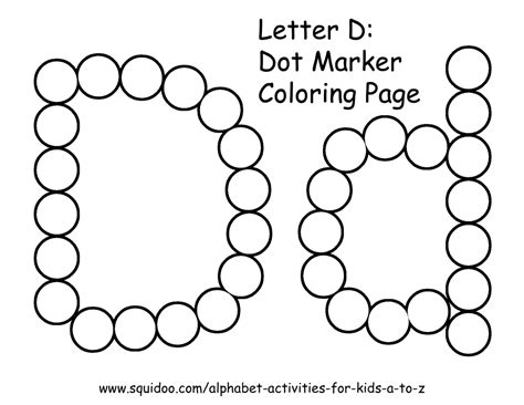 color d letter d coloring pages to and print for free