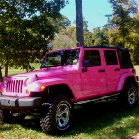 Pink Four Door Jeep Pink Jeep Barbiejeep Jeep Wrangler