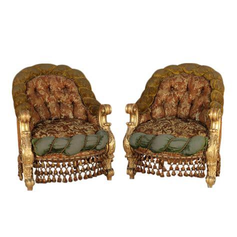 poltrone stile barocco coppia di poltrone in stile barocco sedie poltrone