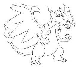 mega charizard coloring page mega charizard drawing sketch by mblock d6kzlgt png