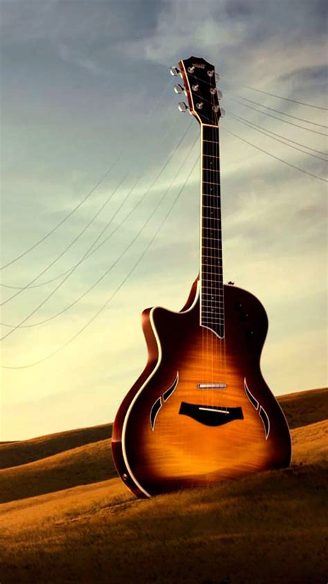 guitar utility wither field iphone  wallpaper surreal