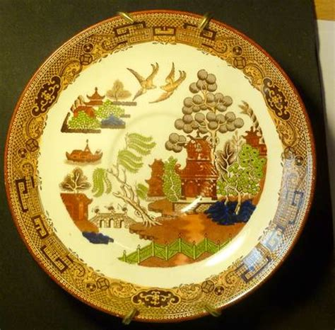 yellow willow pattern wedgwood willow brown multicolor at replacements ltd