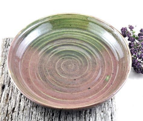 Handmade Ceramic Plates And Bowls - handmade ceramic platter serving plate clay shallow dish