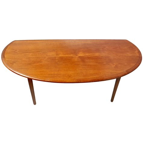 Vintage Modern Coffee Table 60 Quot Mid Century Modern Vintage Half Moon Coffee Table Ebay