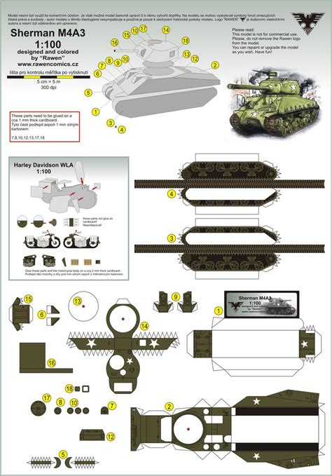 Tank Papercraft - pin by green on paper models