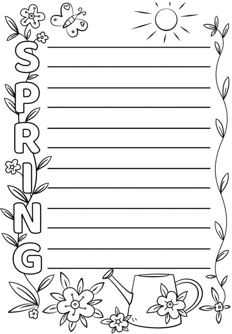Spring Acrostic Poem Template Free Printable Papercraft Templates Acrostic Poem Template