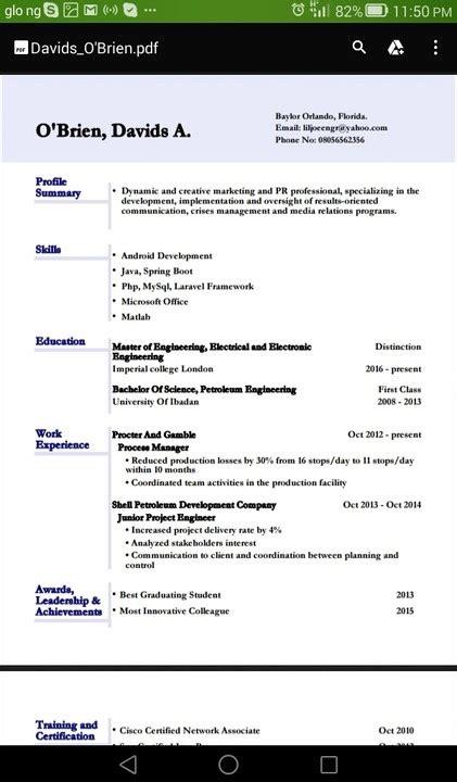 cv format nairaland best cv format jobs vacancies nigeria