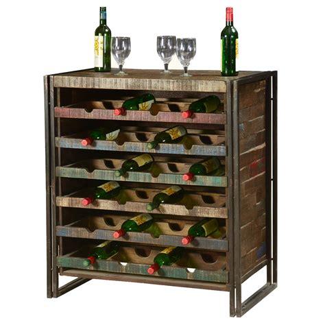 Liquor Rack by Rustic Industrial Wooden Liquor Wine Storage Rack For 24