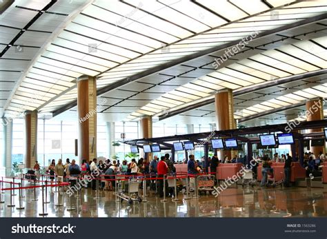 Background Check Singapore Airport Background Series Terminal Two Stock Photo