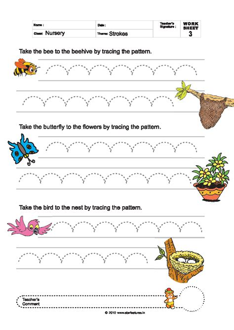 pattern and line worksheets free pre primary worksheets