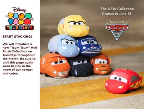 Tsum Tsum Cars Smokey Cars 3 Tsum Tsum Collection To Be Released June 16
