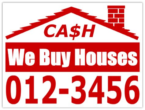 buy house signs cash now we buy houses cheap bandit signs for investors