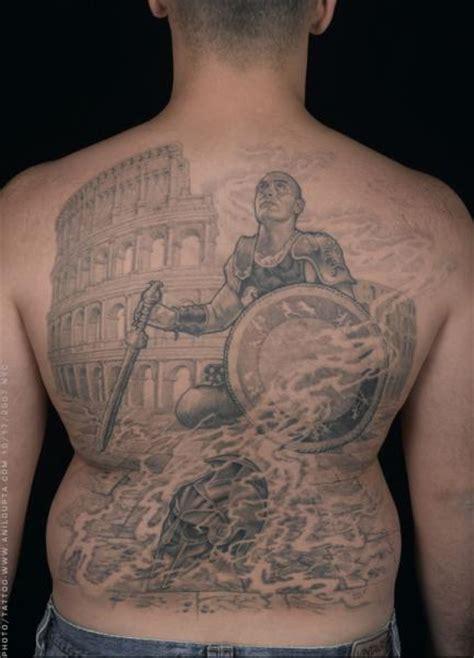 realistische r 252 cken krieger tattoo von anil gupta