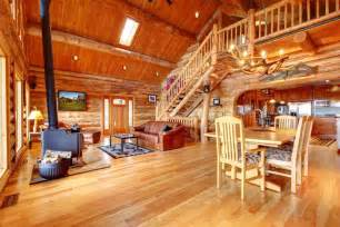 Log Cabin Home Interiors by Inside Log Homes