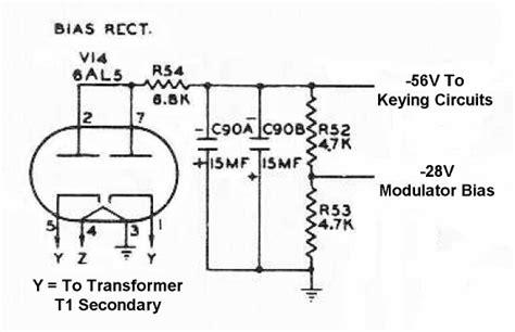 bias resistor wattage the johnson viking ranger bias keying power supply schematic diagram and circuit description