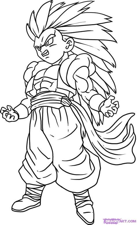 dbz goku ssj3 coloring pages