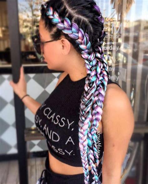 good hair braids 25 best ideas about colored box braids on pinterest box