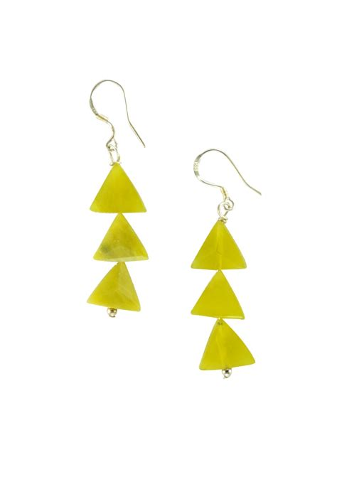 Yellow Triangle Earring citrus yellow triangle earrings happiness boutique