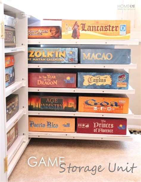 game storage ideas diy board game storage unit home made by carmona