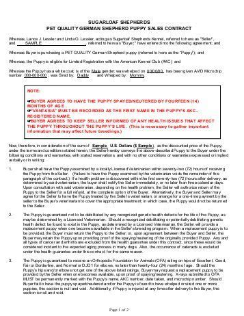 Puppy Health Guarantee Sales Contract Utahdobermans Com Spay And Neuter Contract Template