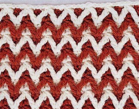 crochet wave ripple pattern stitch knitting bee little relief chevron crochet stitch crochet kingdom