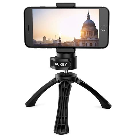 aukey iphone tripod with mount photo tripod for digital dslr with 1 4 cell