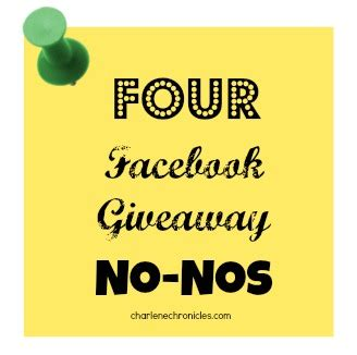 Travel Contests And Giveaways - 4 facebook contest and giveaway no nos charlene chronicles