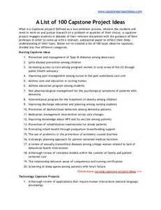Capstone Essay by List Of 100 Best Capstone Project Ideas