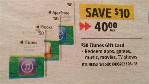 Itunes Gift Card Sale Canada - 50 itunes gift card on sale for 40 at future shop update iphone in canada blog
