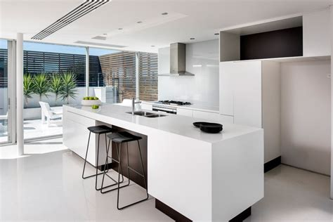 floating island kitchen design tip make a kitchen island float by using a recessed base contemporist