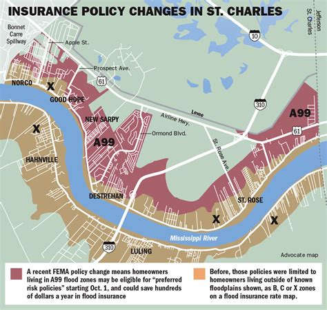 fema flood insurance rate map thousands in st charles parish may be eligible for lower