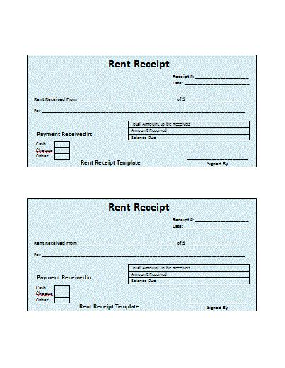 rent receipt word template house rent receipt template word templates