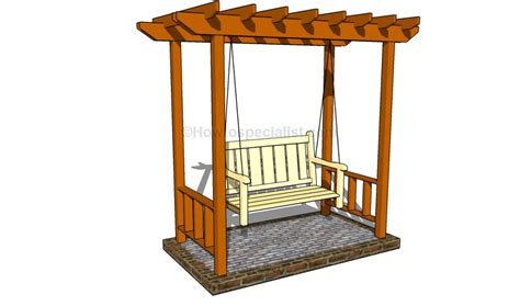 arbor swing plans free garden arbor designs howtospecialist how to build