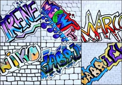 lettere stile murales nome in stile graffiti