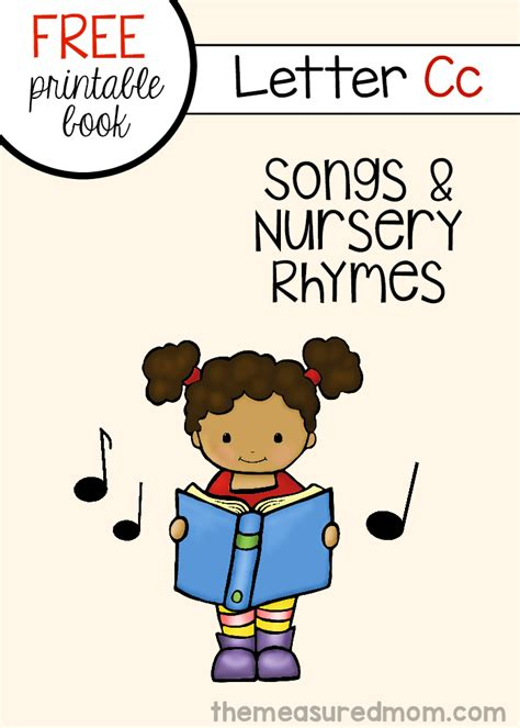 printable children s rhymes letter c rhymes and songs free letter book the