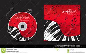red dvd cover design with piano stock photo image 25441280