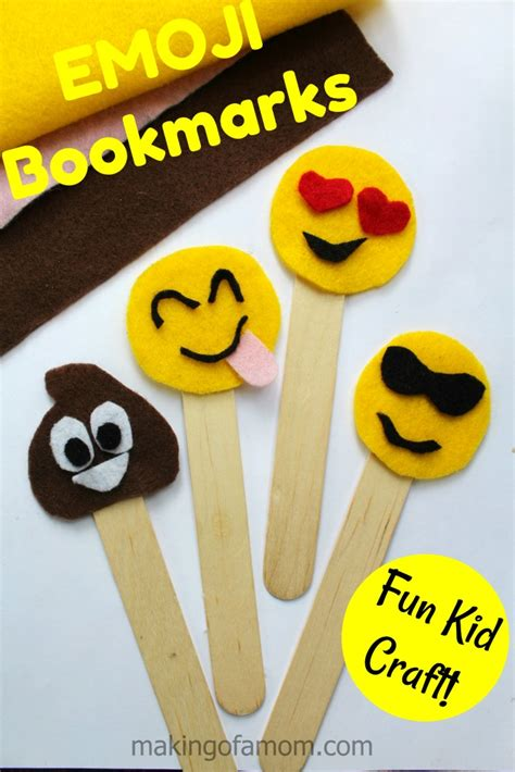 Cool Things To Make Out Of Construction Paper - emoji bookmarks craft of a