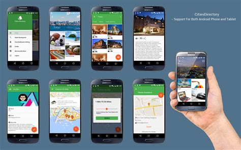 Citiesdirectory V2 0 Directory Android App Based On Cities With Material Design By Panacea Soft Directory App Template