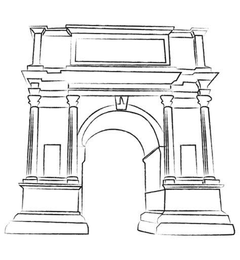 coloring pages of india gate l arc de titus je colorie rome par equipe globekid globekid