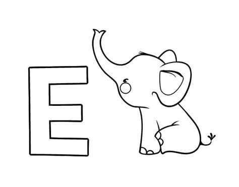 imagenes de animales por la letra e dibujo de e de elefante para colorear dibujos net