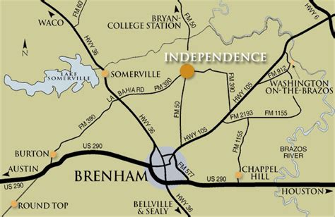 independence texas map independence texas