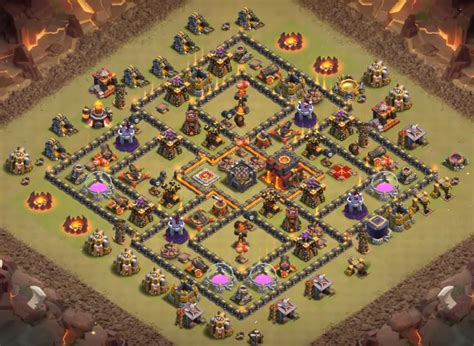 clash of clans th10 war base layout top 60 best th10 base layouts war farming hybrid