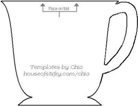 free shaped card templates teacup shaped card free template papercraft juxtapost
