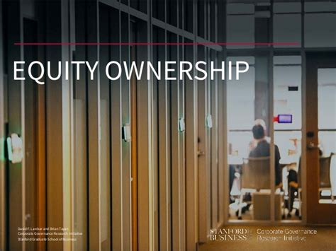 Stanford Mba Equity by Equity Ownership Guide