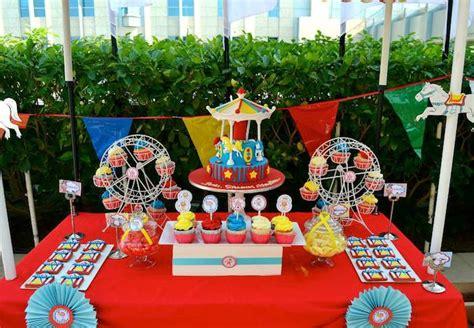 carnival theme ideas decorations carnival themed birthday via kara s ideas