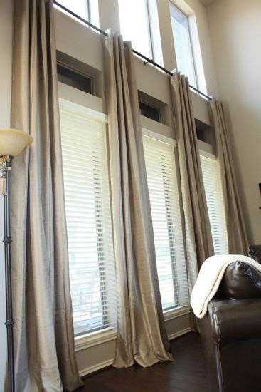 narrow curtain rods tall window curtains on pinterest picture window