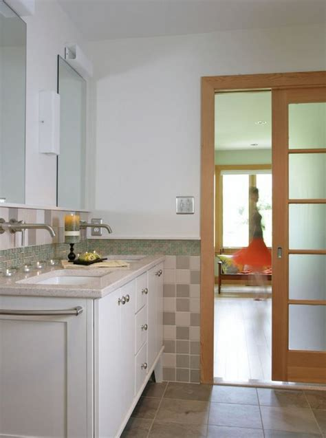 Glass Pocket Doors Bathroom 5 Panel Bathroom Pocket Door With Opaque Glass Mid2mod Pocket Doors