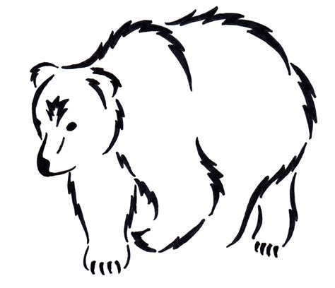 simple bear tattoo simple drawing of a drawing sketch picture