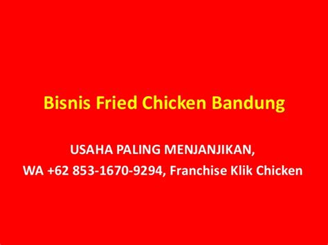 Ebook Pedoman Bisnis Fried Chicken bisnis murah untung wa 62 853 1670 9294 kemitraan klik chicken