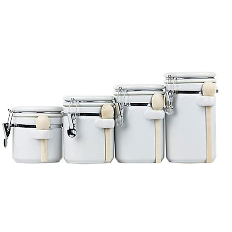 black ceramic kitchen canister set 4 piece airtight metal home basics 4 piece ceramic canister set with spoons in